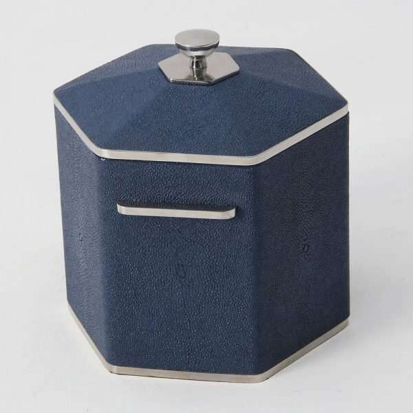 Otis Ice Bucket in Nile Blue Shagreen by Forwood Design 6