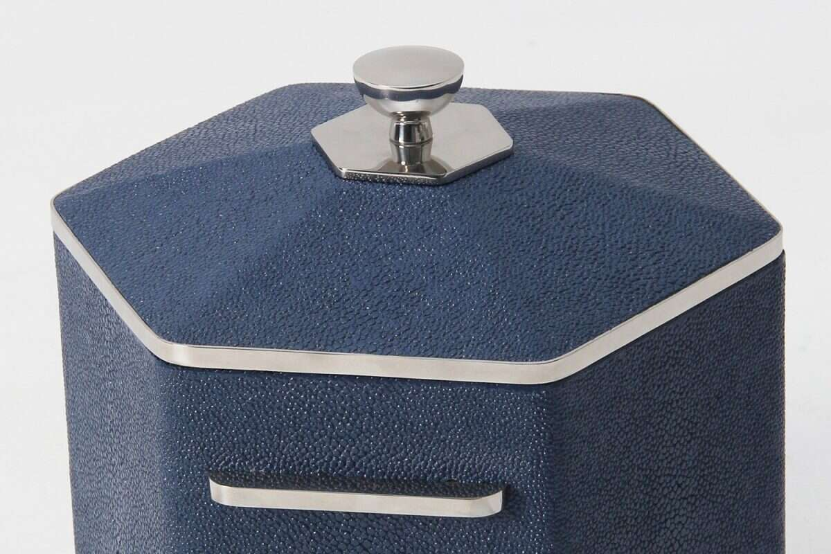 Otis Ice Bucket in Nile Blue Shagreen by Forwood Design 1