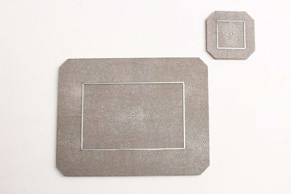Otis Drinks Coasters in Barley Shagreen by Forwood Design 1