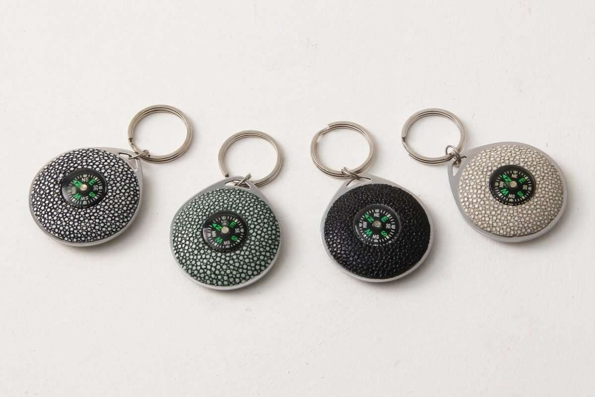 Compass Key Fob in Shagreen by Forwood Design 7