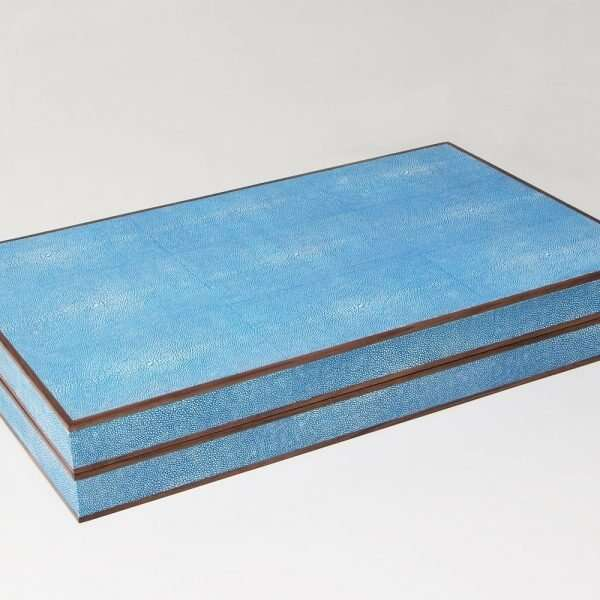 Backgammon Board in Duke Blue Shagreen by Forwood Design 4