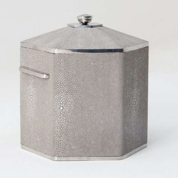 Otis Ice Bucket in Barley Shagreen by Forwood Design 5