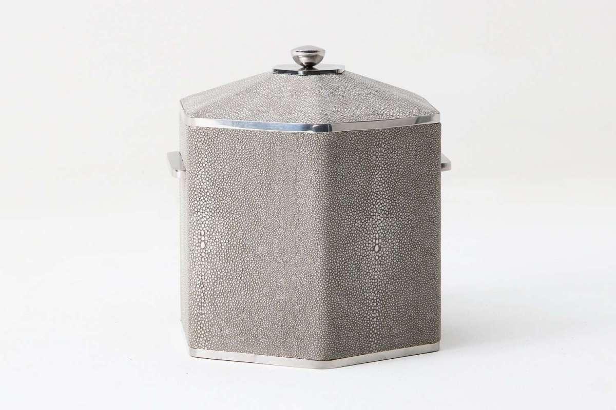Otis Ice Bucket in Barley Shagreen by Forwood Design 4