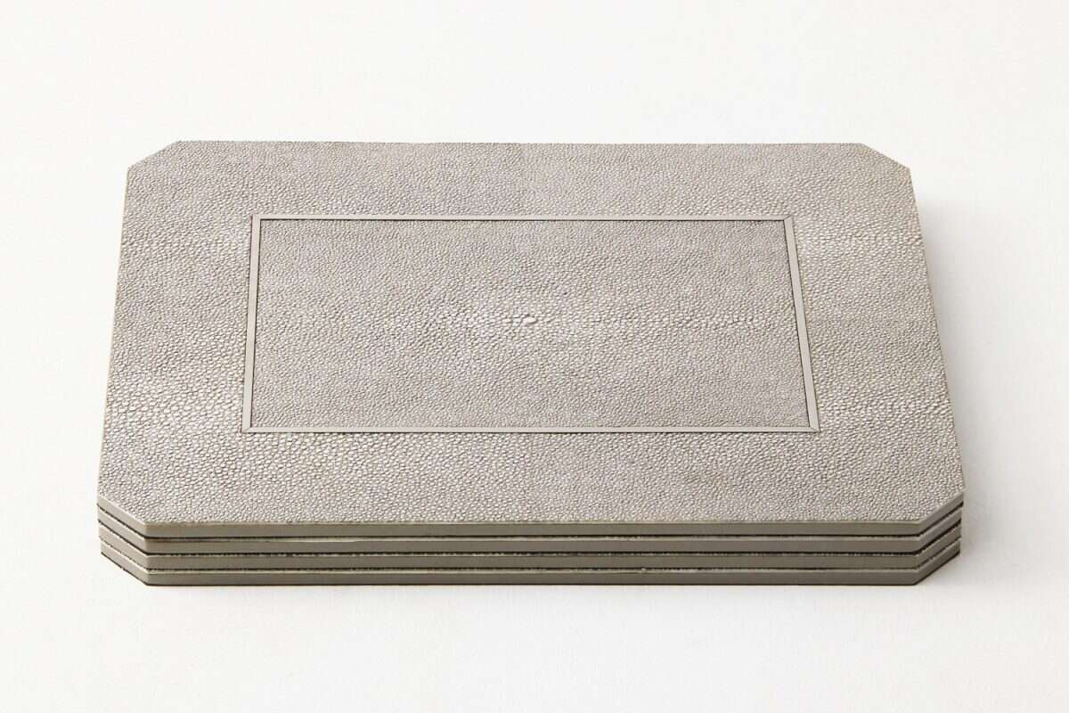 Otis Place mats in Barley Shagreen by Forwood Design 5