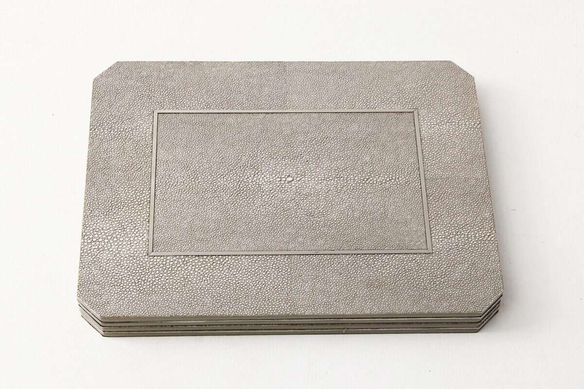 Otis Place mats in Barley Shagreen by Forwood Design 4