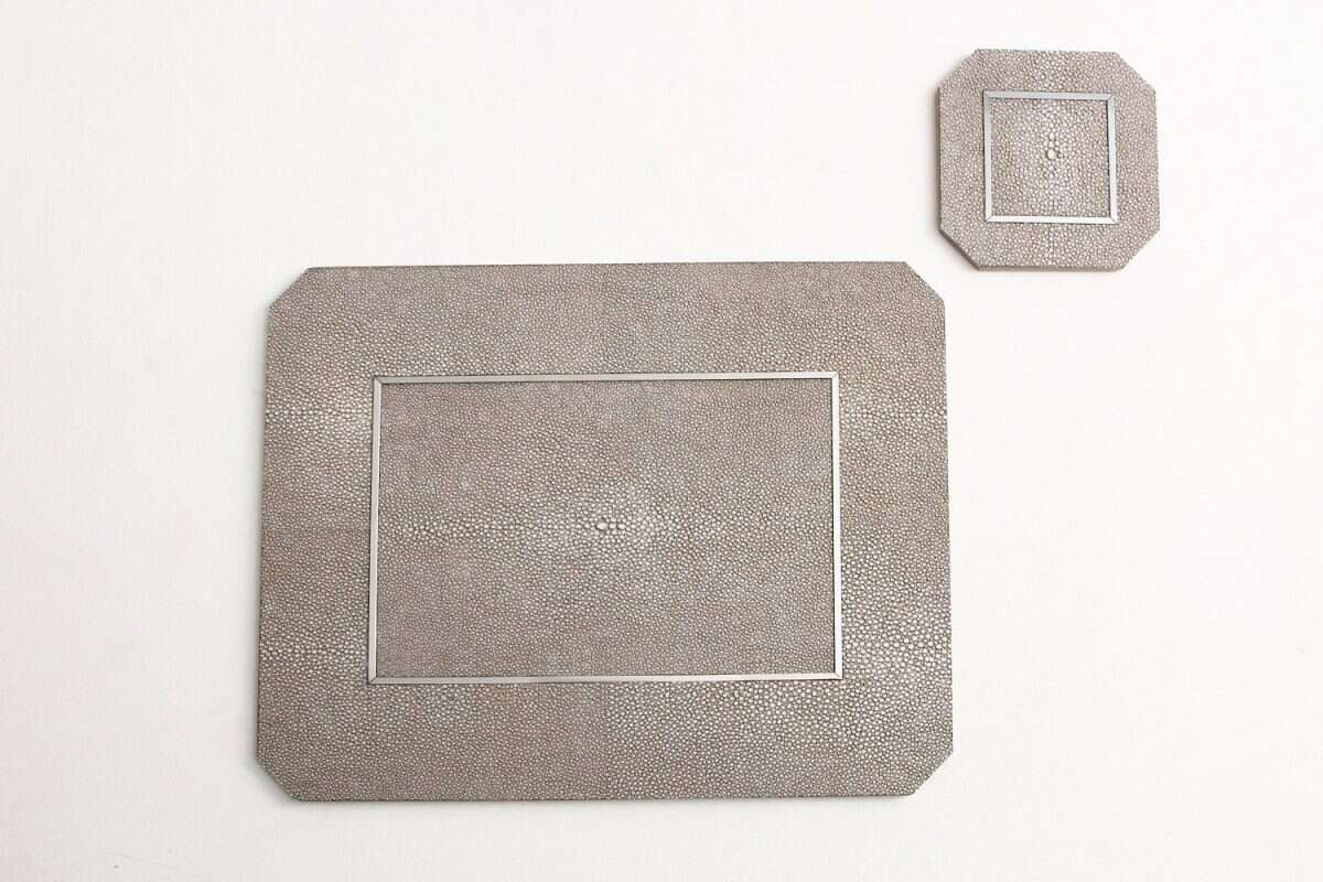 Otis Place mats in Barley Shagreen by Forwood Design 2