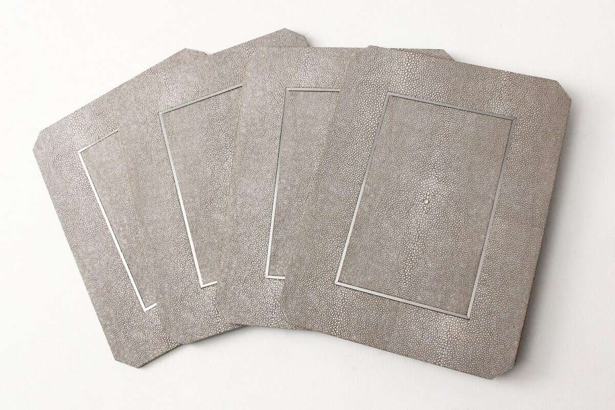 Otis Place mats in Barley Shagreen by Forwood Design 1