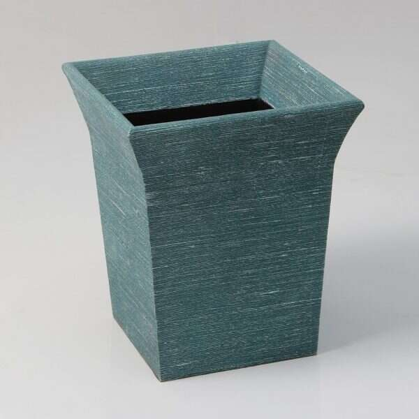 Tarka Waste Bin in Teal Silk by Forwood Design 1