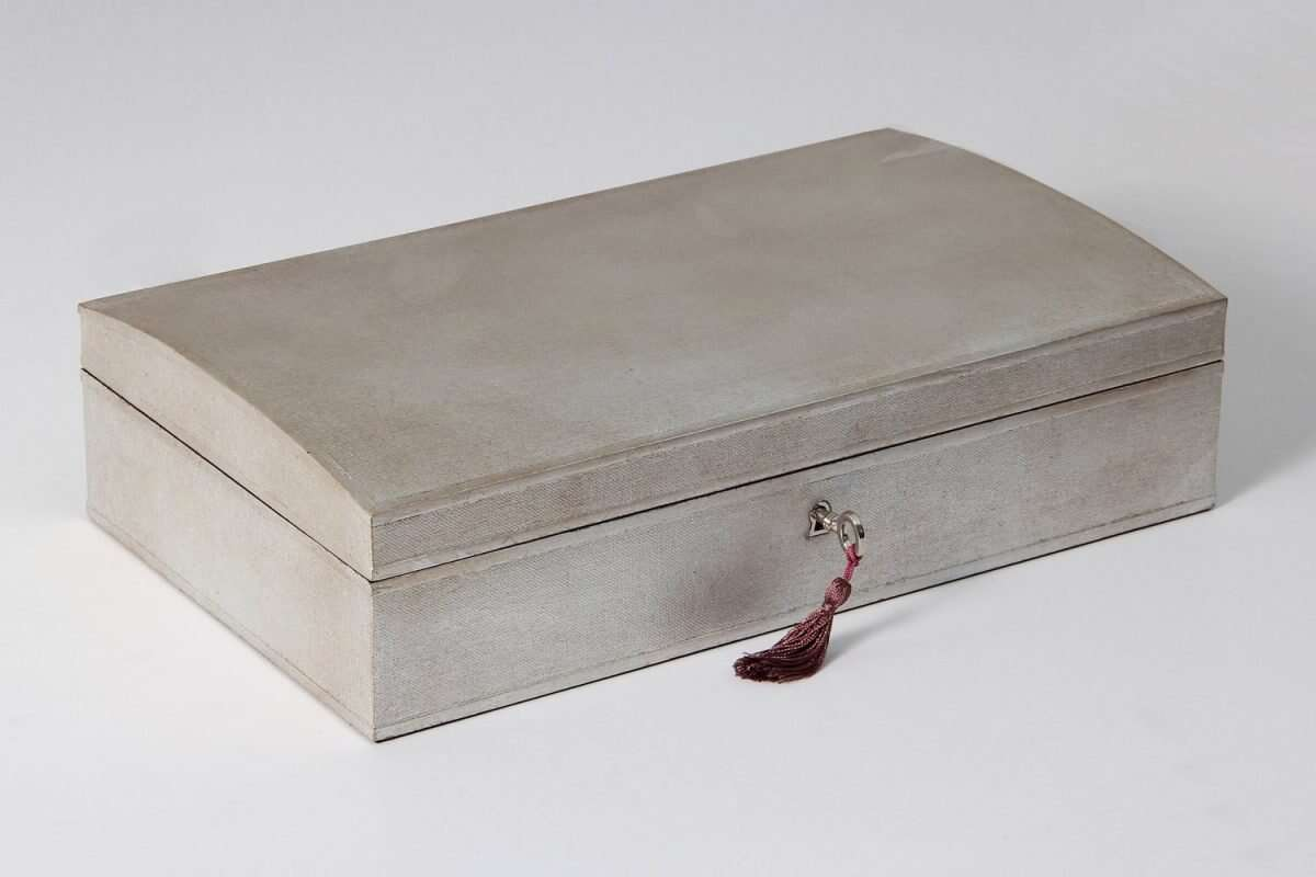 Avalon Jewellery Box in Silver Linen by Forwood Design 5