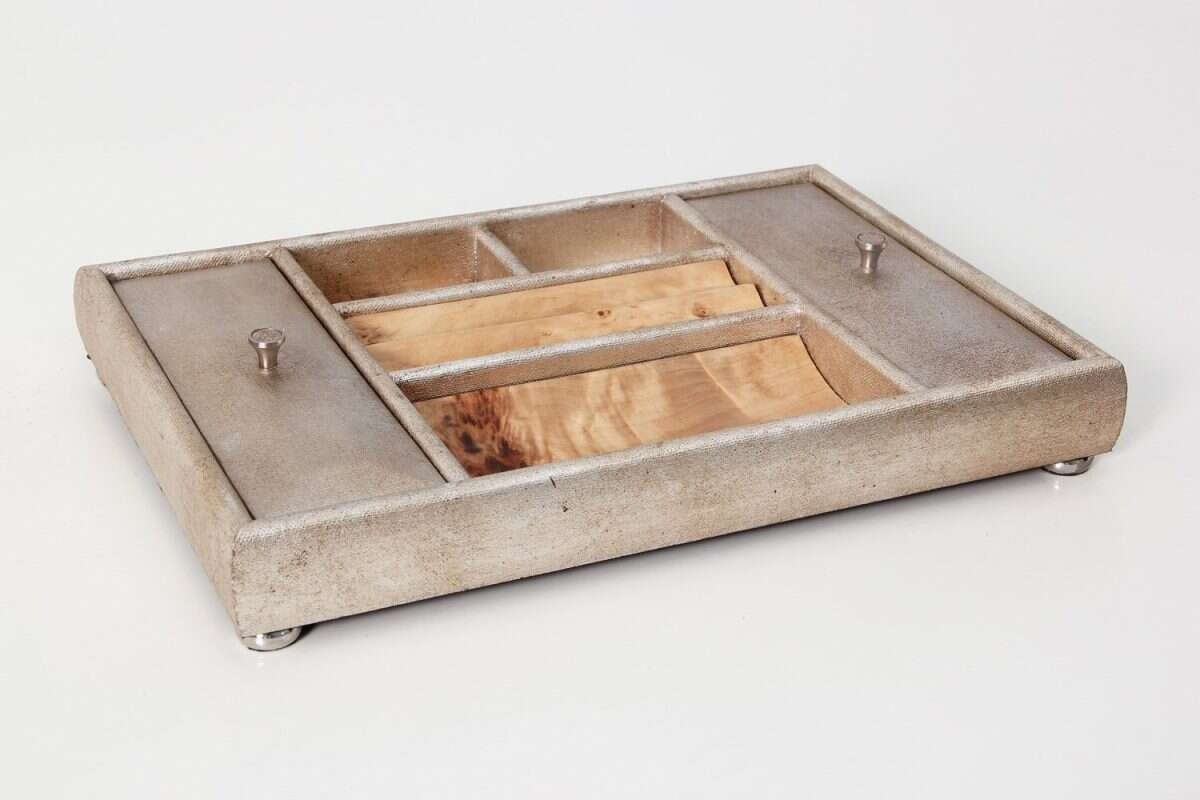 Melford Jewellery Tray in Silver Linen by Forwood design 4