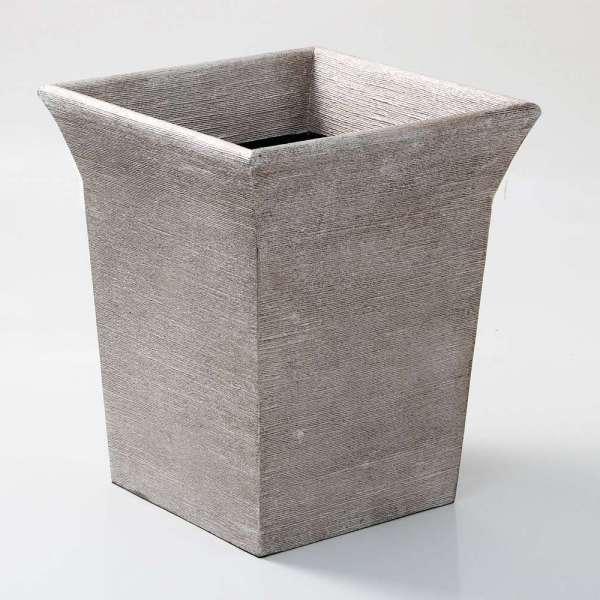 Tarka Waste Bin in Silver Silk by Forwood Design 6