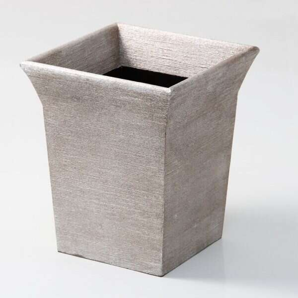 Tarka Waste Bin in Silver Silk by Forwood Design 2