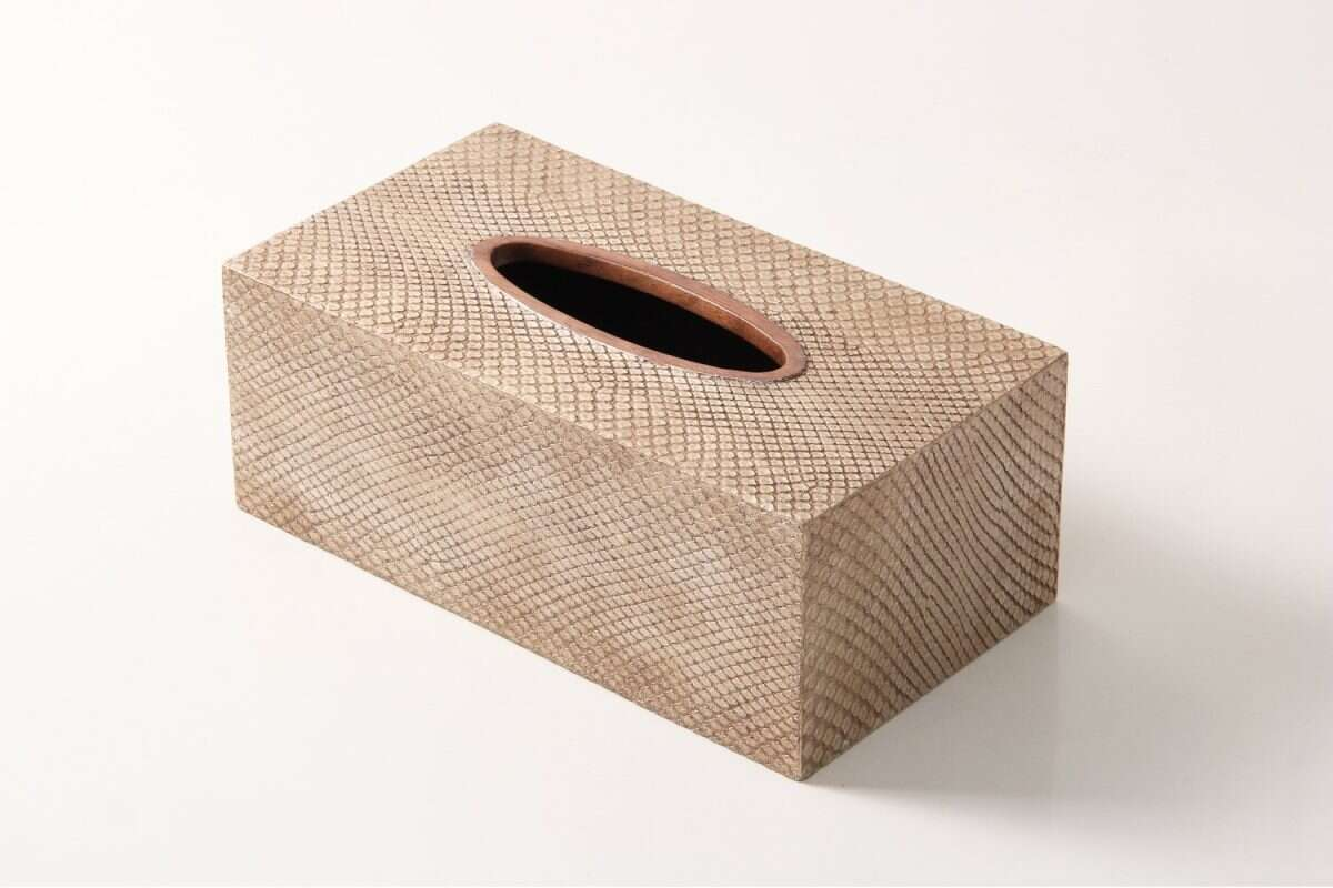 Boa Tissue Box in Antique Silver by Forwood Design 2
