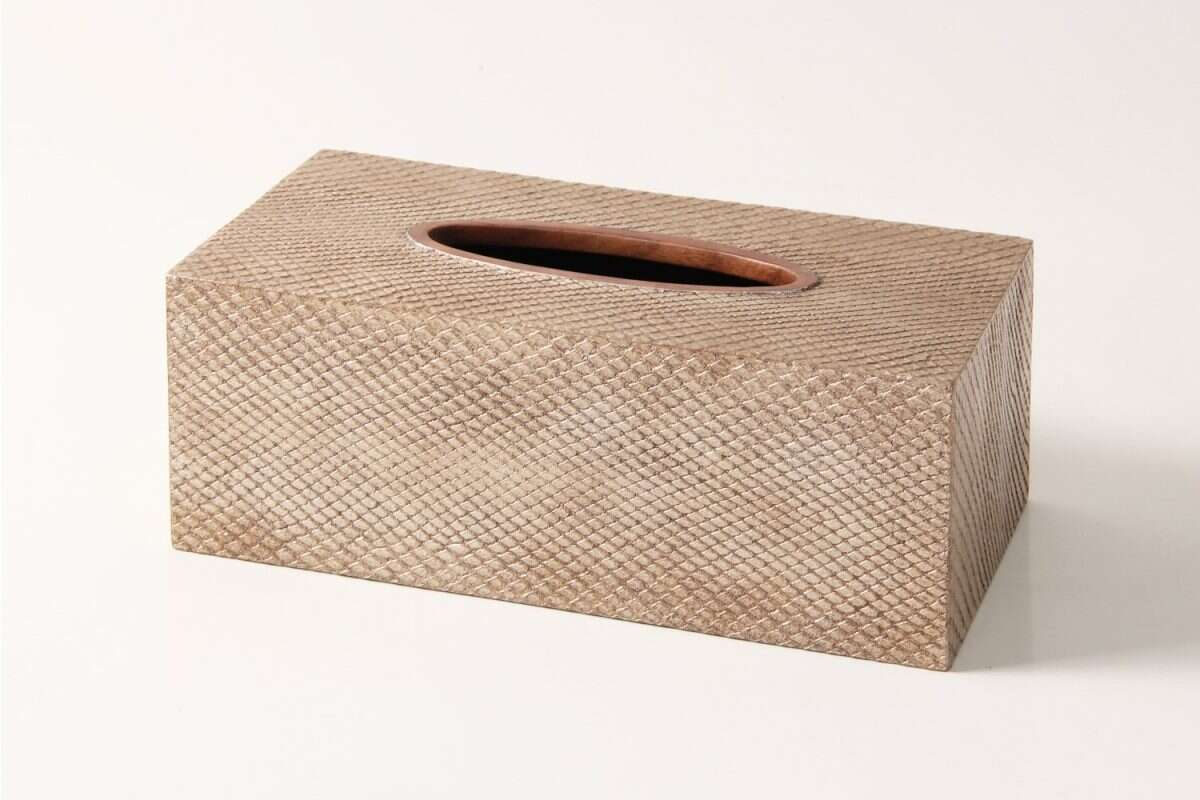 Boa Tissue Box in Antique Silver by Forwood Design 1