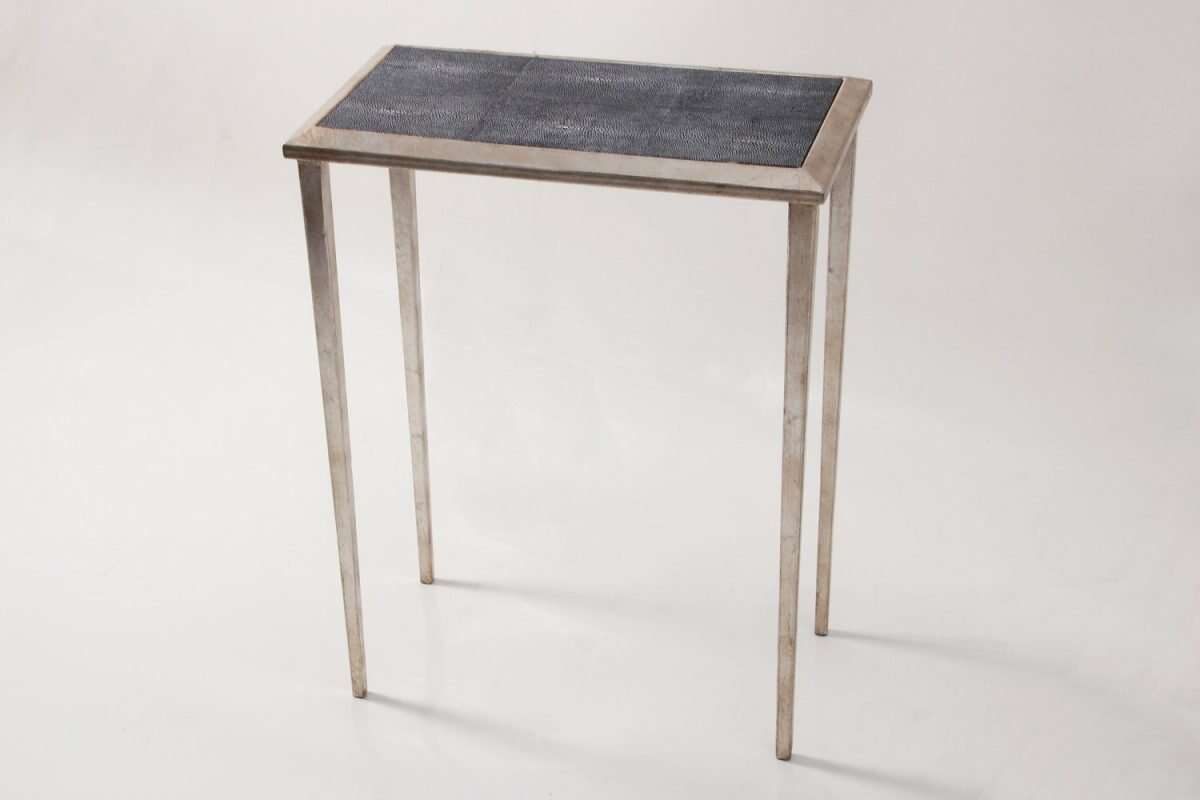 Clare Shagreen Lamp Table by Forwood Design 3