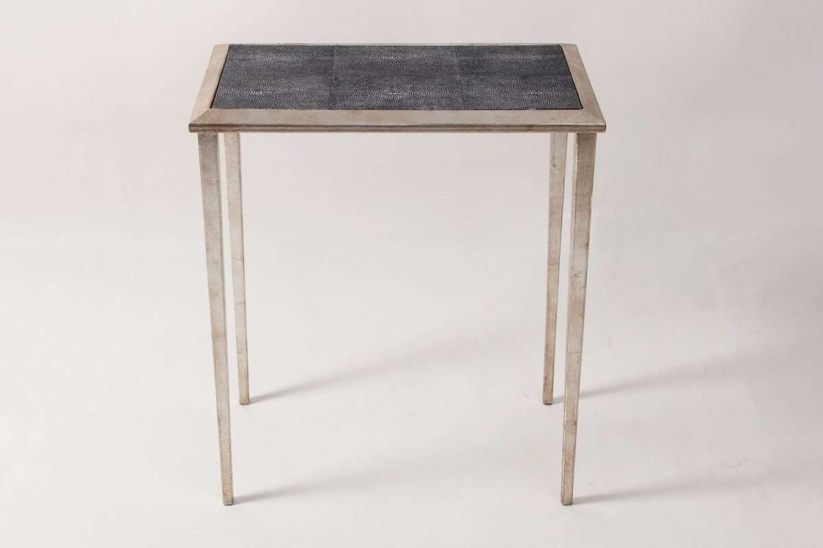 Clare Shagreen Lamp Table by Forwood Design 2