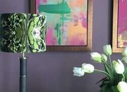 Diss Column Table Lamp – Seal Brown Shagreen