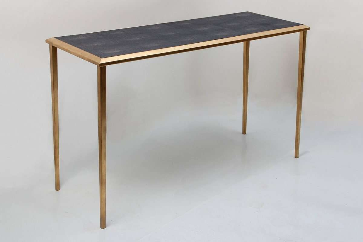 Console Table in Seal Brown Shagreen by Forwood Design 6