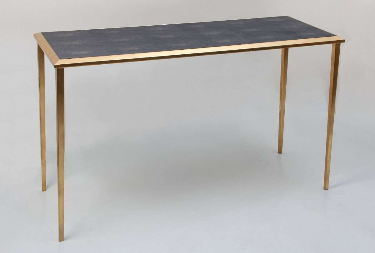 Console Table in Seal Brown Shagreen by Forwood Design 5