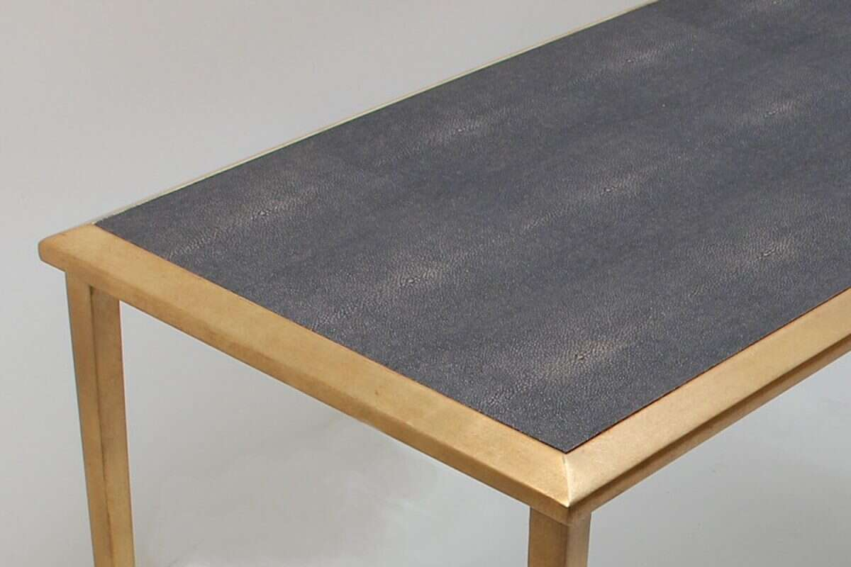 Console Table in Seal Brown Shagreen by Forwood Design 2