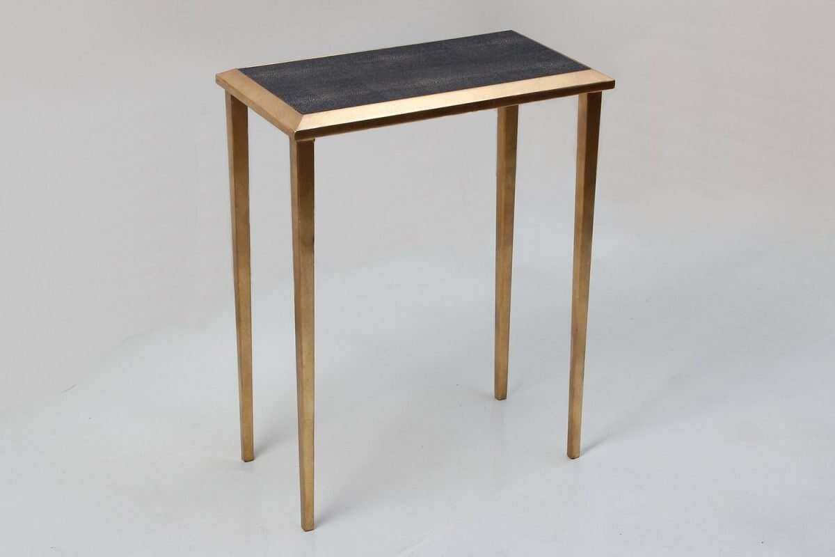 Lamp Table in Seal Brown Shagreen by Forwood Design 4