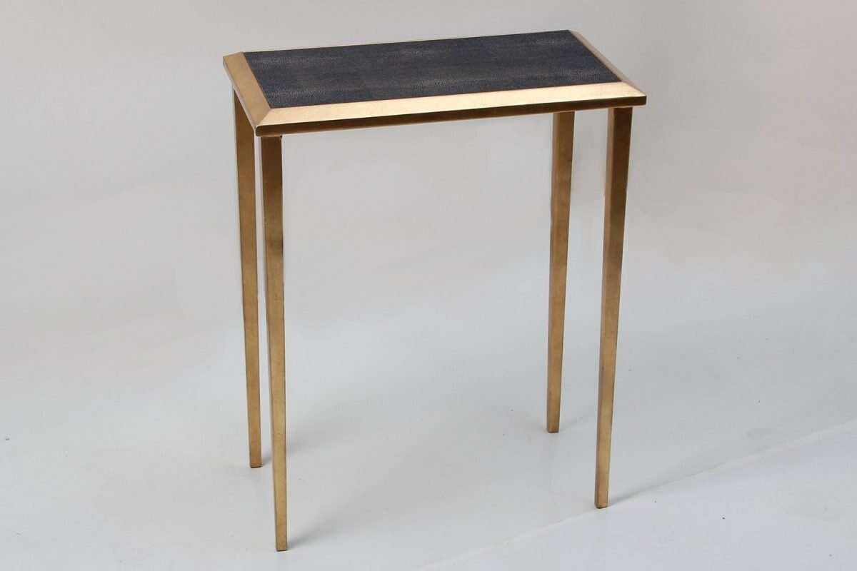 Lamp Table in Seal Brown Shagreen by Forwood Design 3