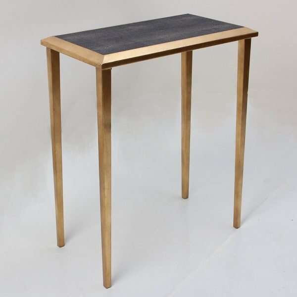 Lamp Table in Seal Brown Shagreen by Forwood Design 1