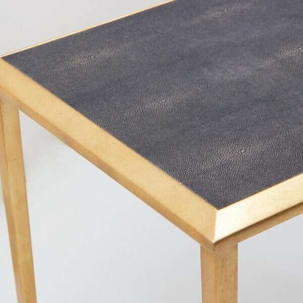 Side Table in Seal Brown Shagreen by Forwood Design 5