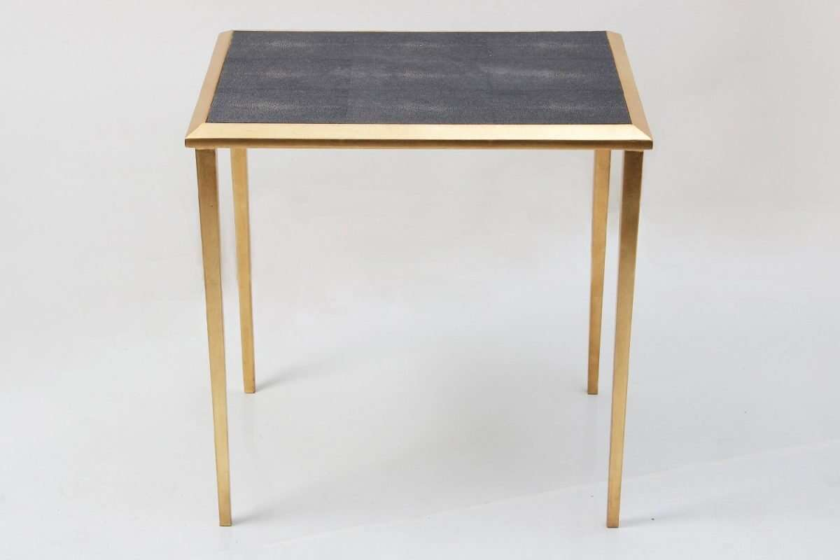 Side Table in Seal Brown Shagreen by Forwood Design 4