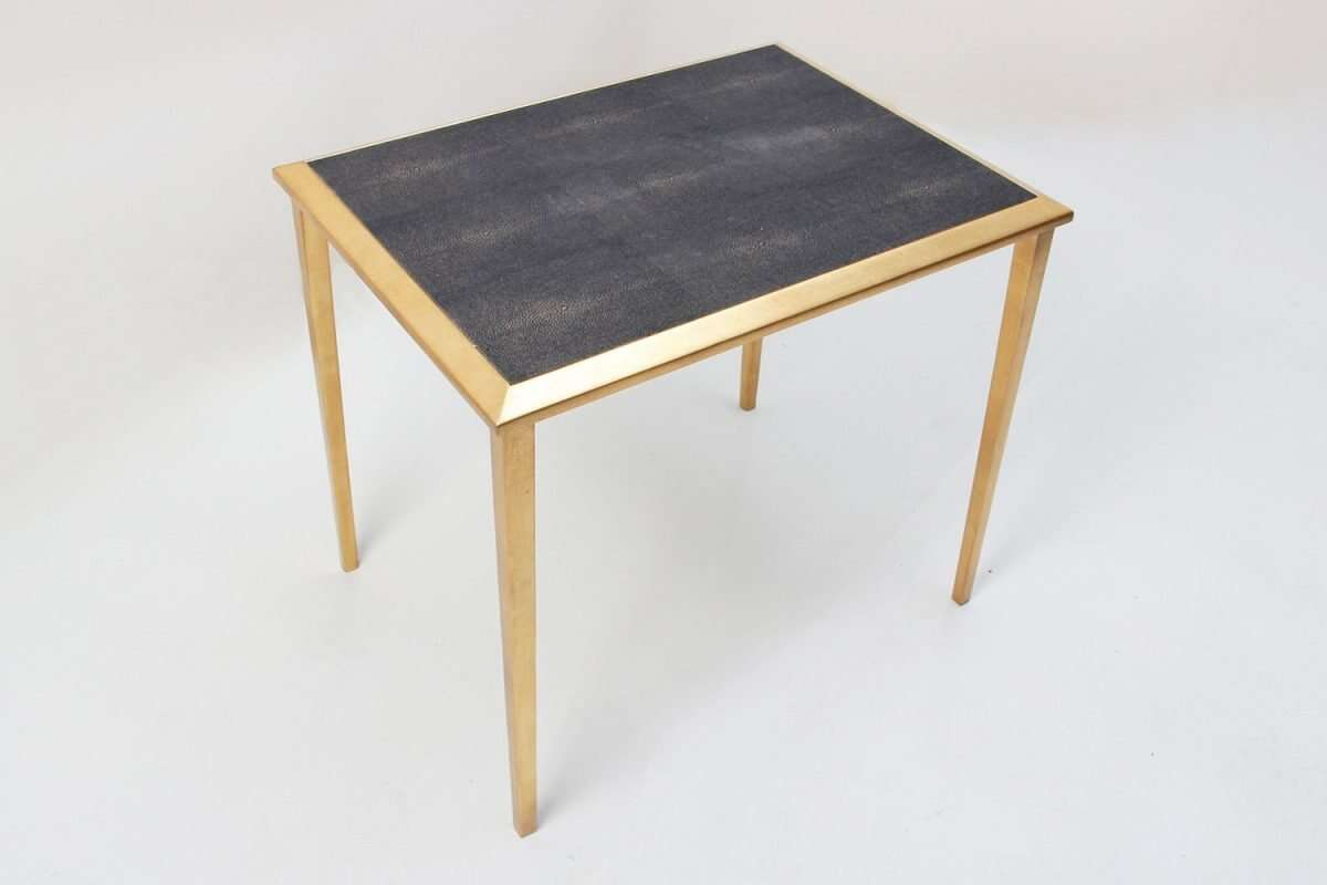Side Table in Seal Brown Shagreen by Forwood Design 2