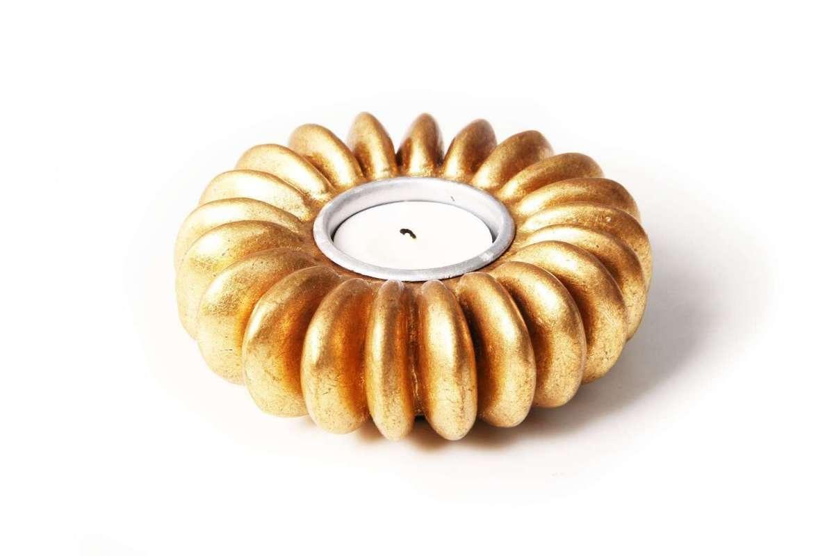 Sandbox Seed Tea Light Holder in Antique Gold 4