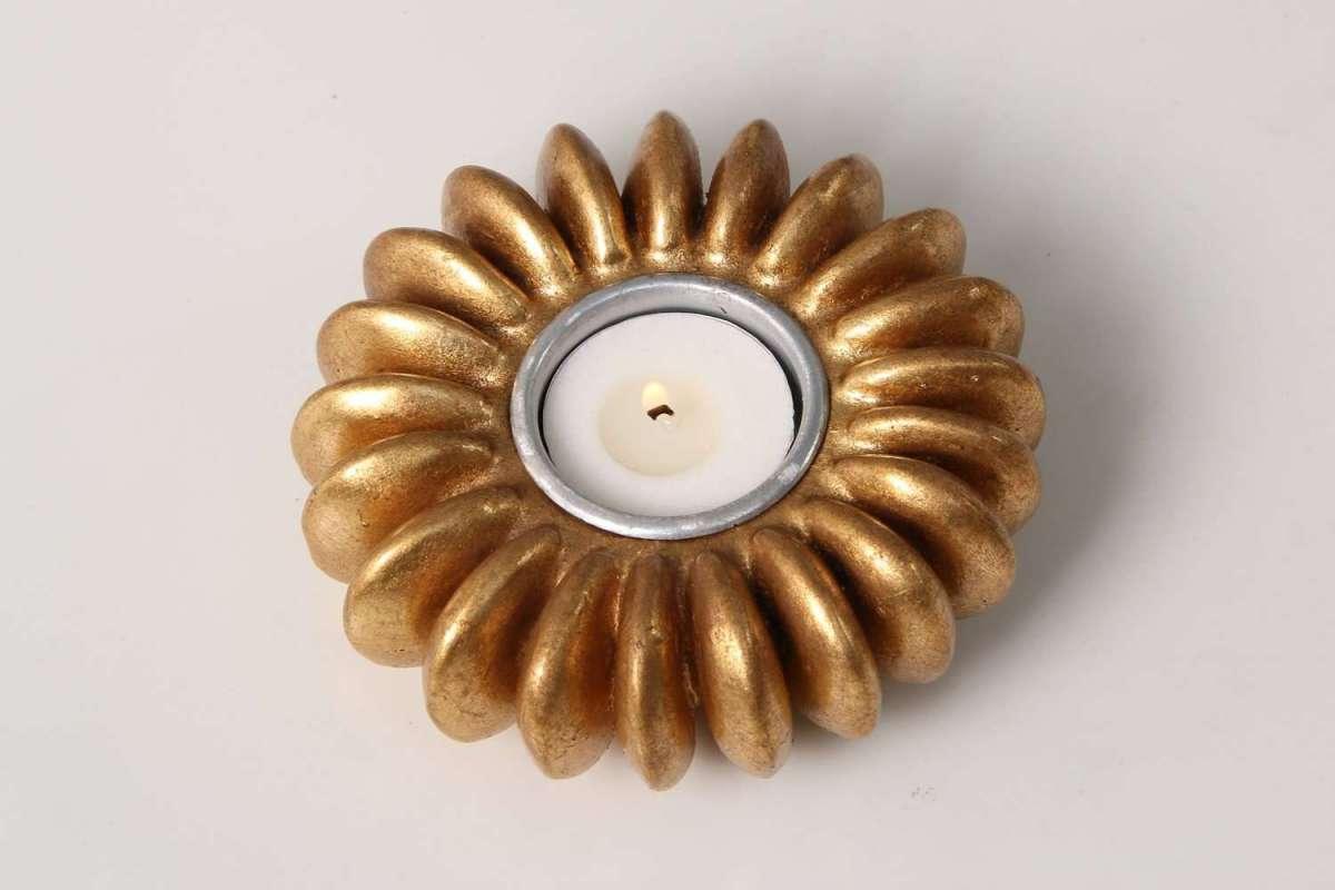 Sandbox Seed Tea Light Holder in Antique Gold 2
