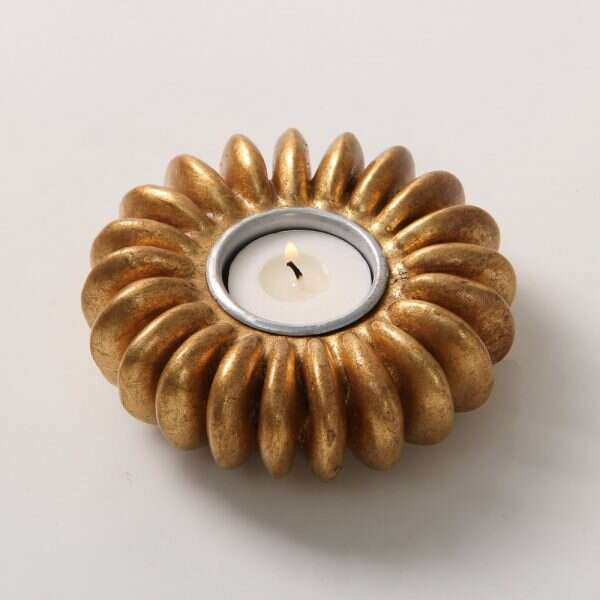 Sandbox Seed Tea Light Holder in Antique Gold 1