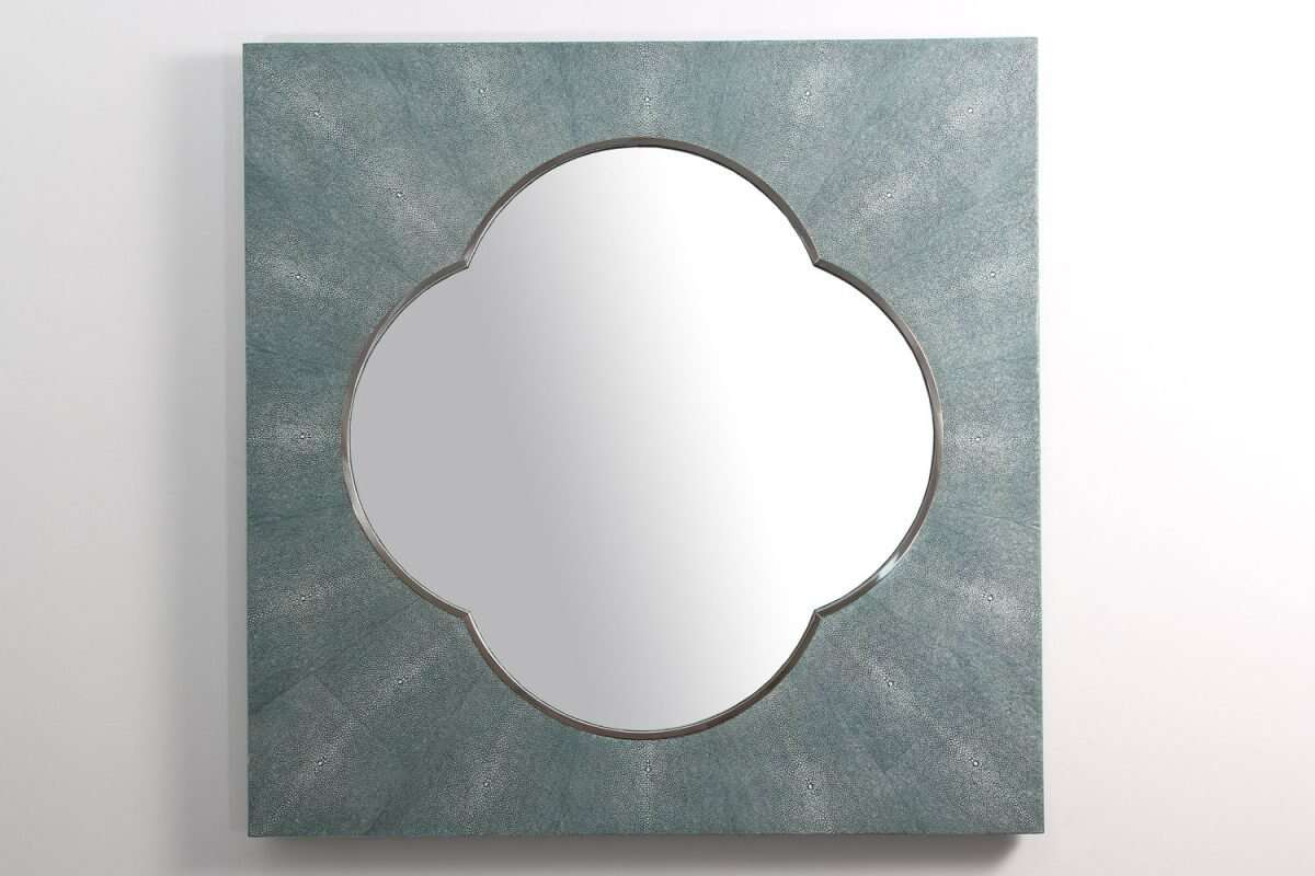 Ely Mirror in Teal Shagreen by Forwood Design 4