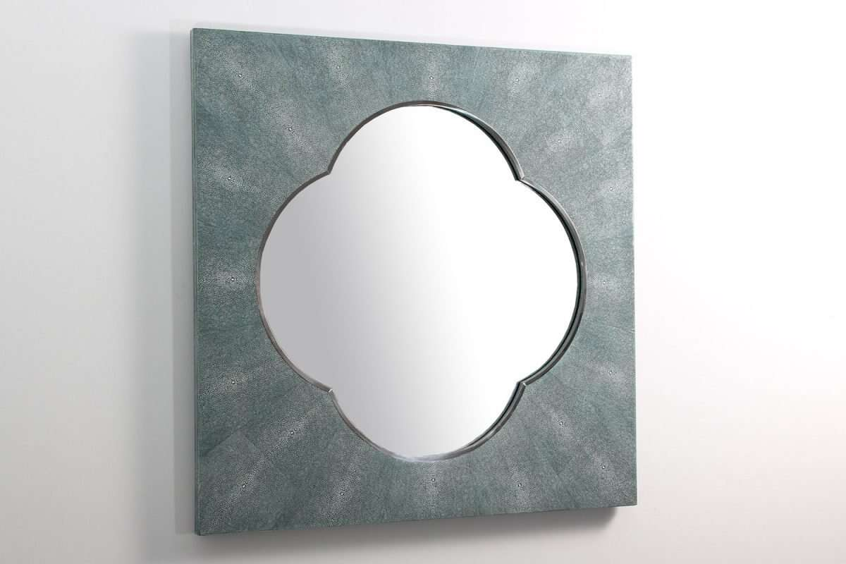 Ely Mirror in Teal Shagreen by Forwood Design 3