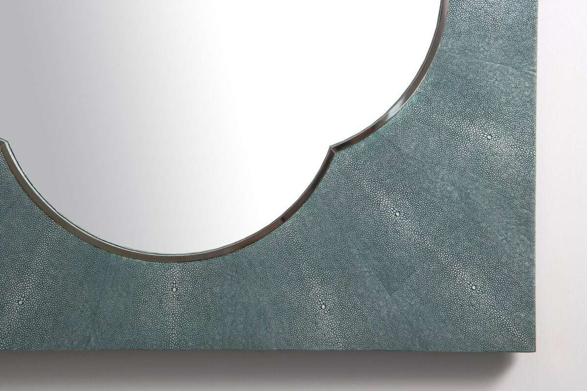 Ely Mirror in Teal Shagreen by Forwood Design 2