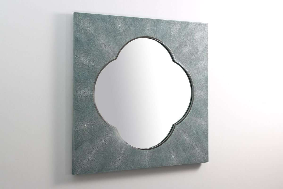 Ely Mirror in Teal Shagreen by Forwood Design 1