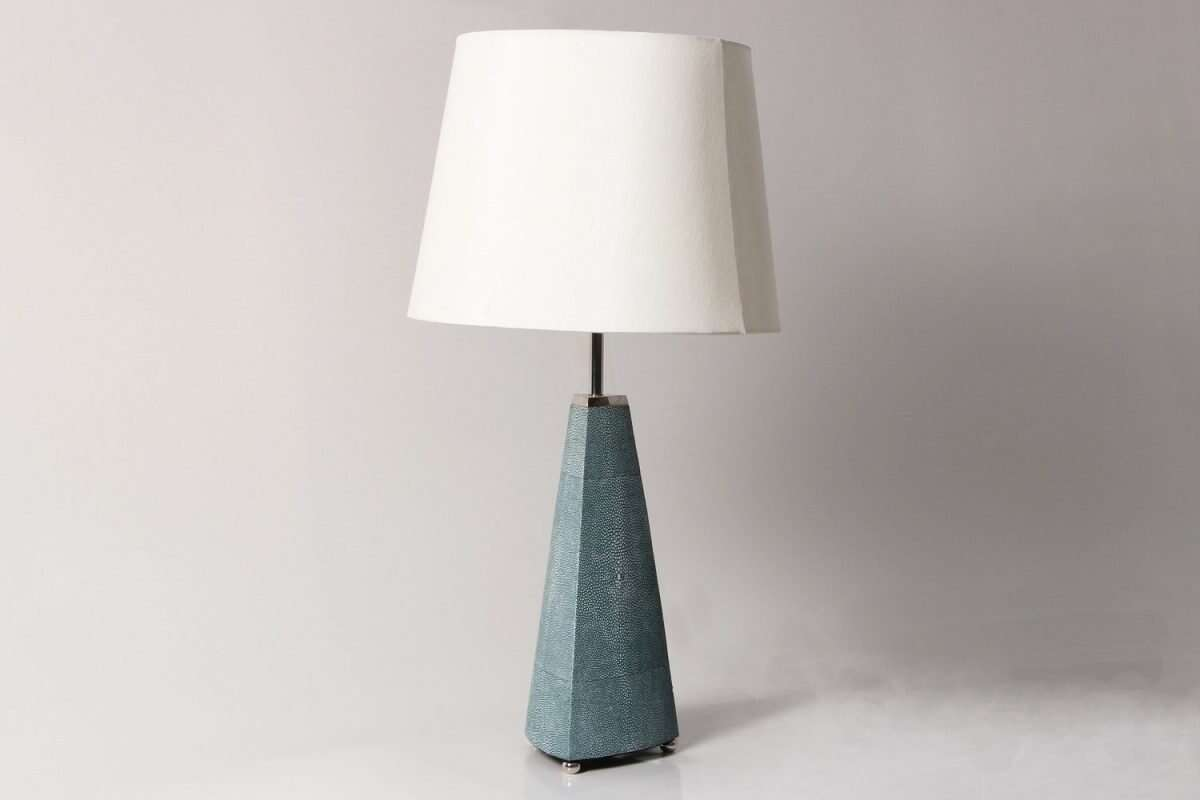 Steeple Table Lamp in Teal Shagreen by Forwood Design 4