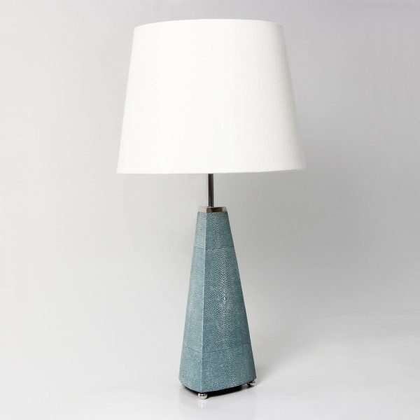 Steeple Table Lamp in Teal Shagreen by Forwood Design 1