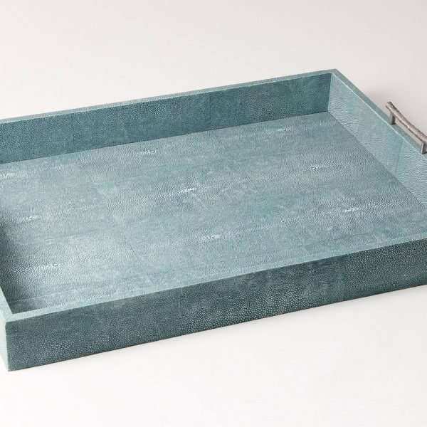 Rectangle Serving Trays in Teal Shagreen by Forwood design 15