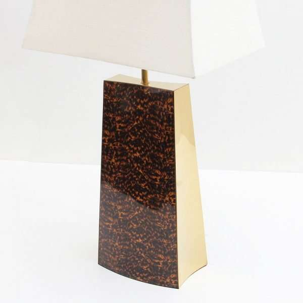 Shard Tortoise Shell Table Lamp by Forwood design 4