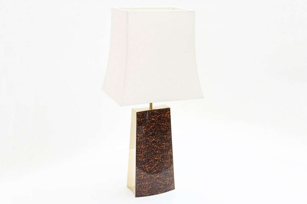 Shard Tortoise Shell Table Lamp by Forwood design 3
