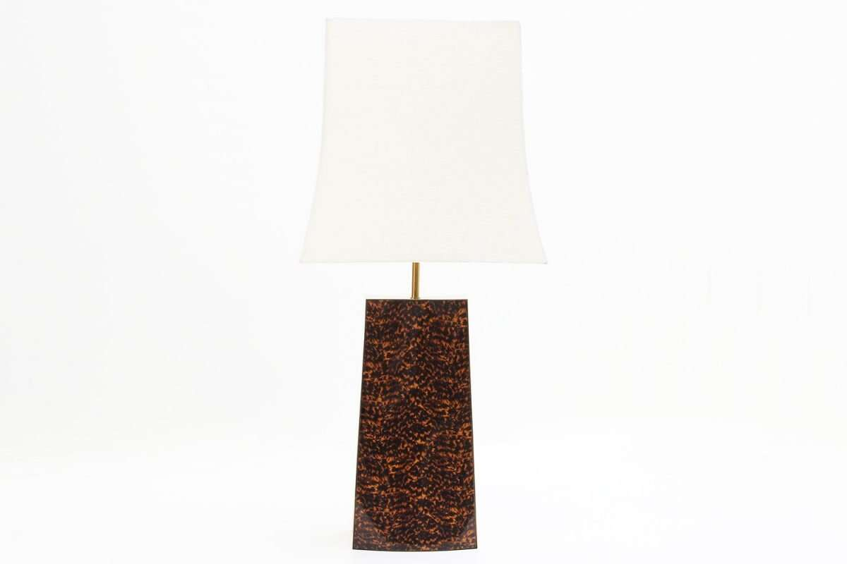 Shard Tortoise Shell Table Lamp by Forwood design 2