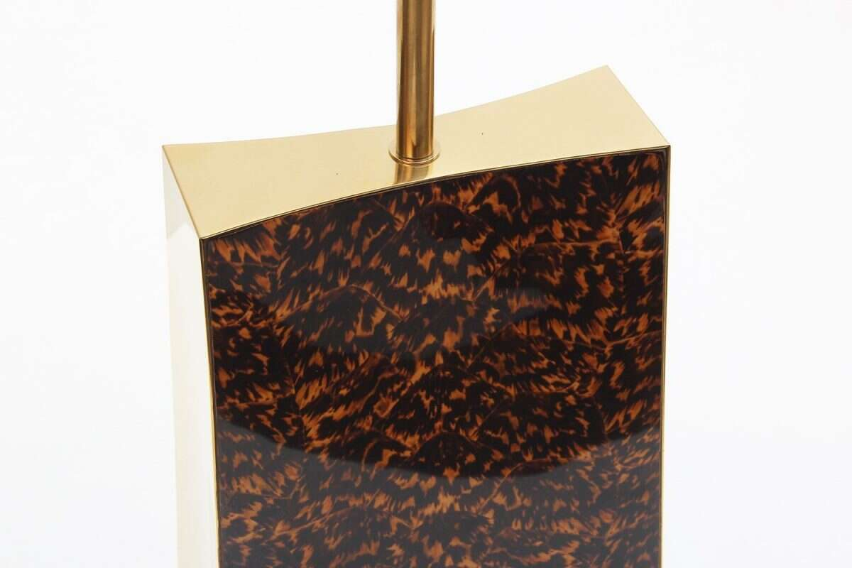 Shard Tortoise Shell Table Lamp by Forwood design 1