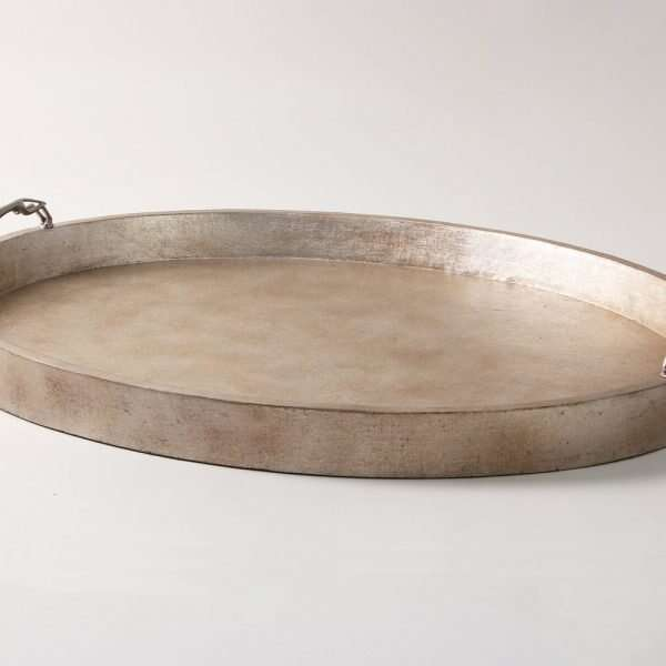 Greyhound Trays in Antique Silver Linen by Forwood Design 3