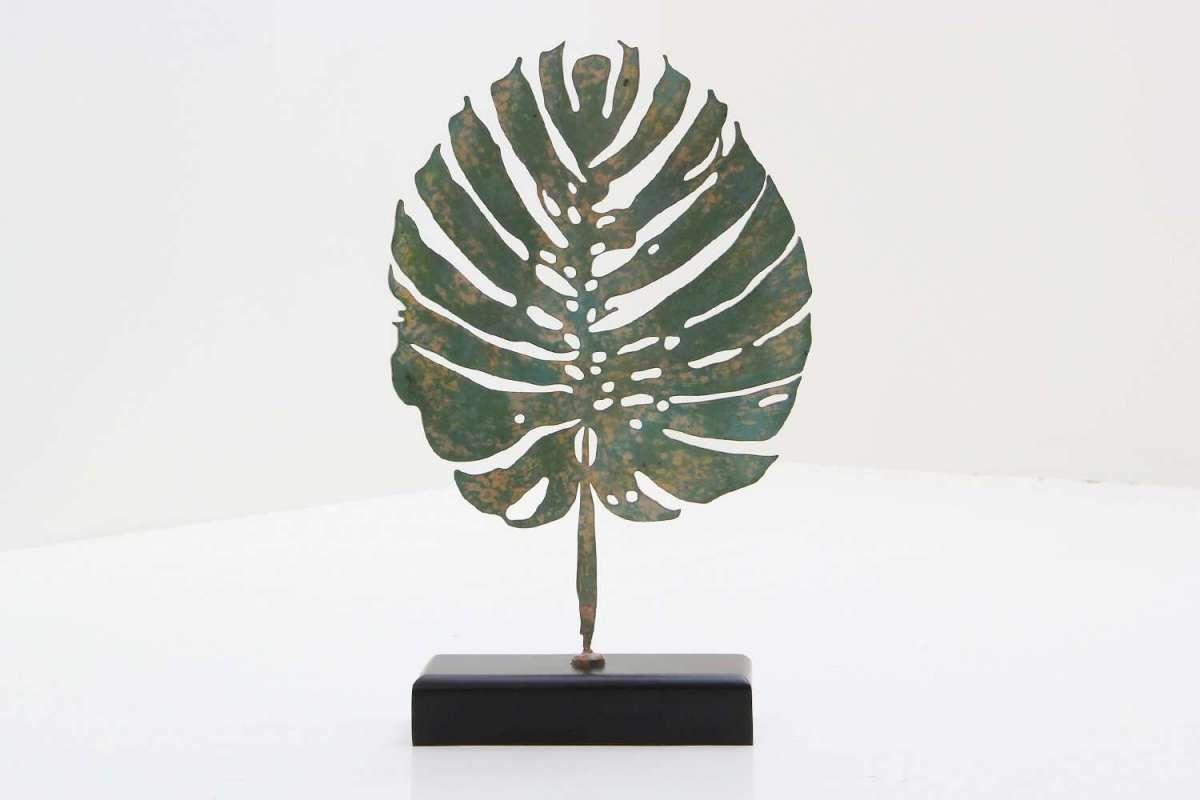 Verdigris Tropicana Leaf Sculpture by Forwood Design 5