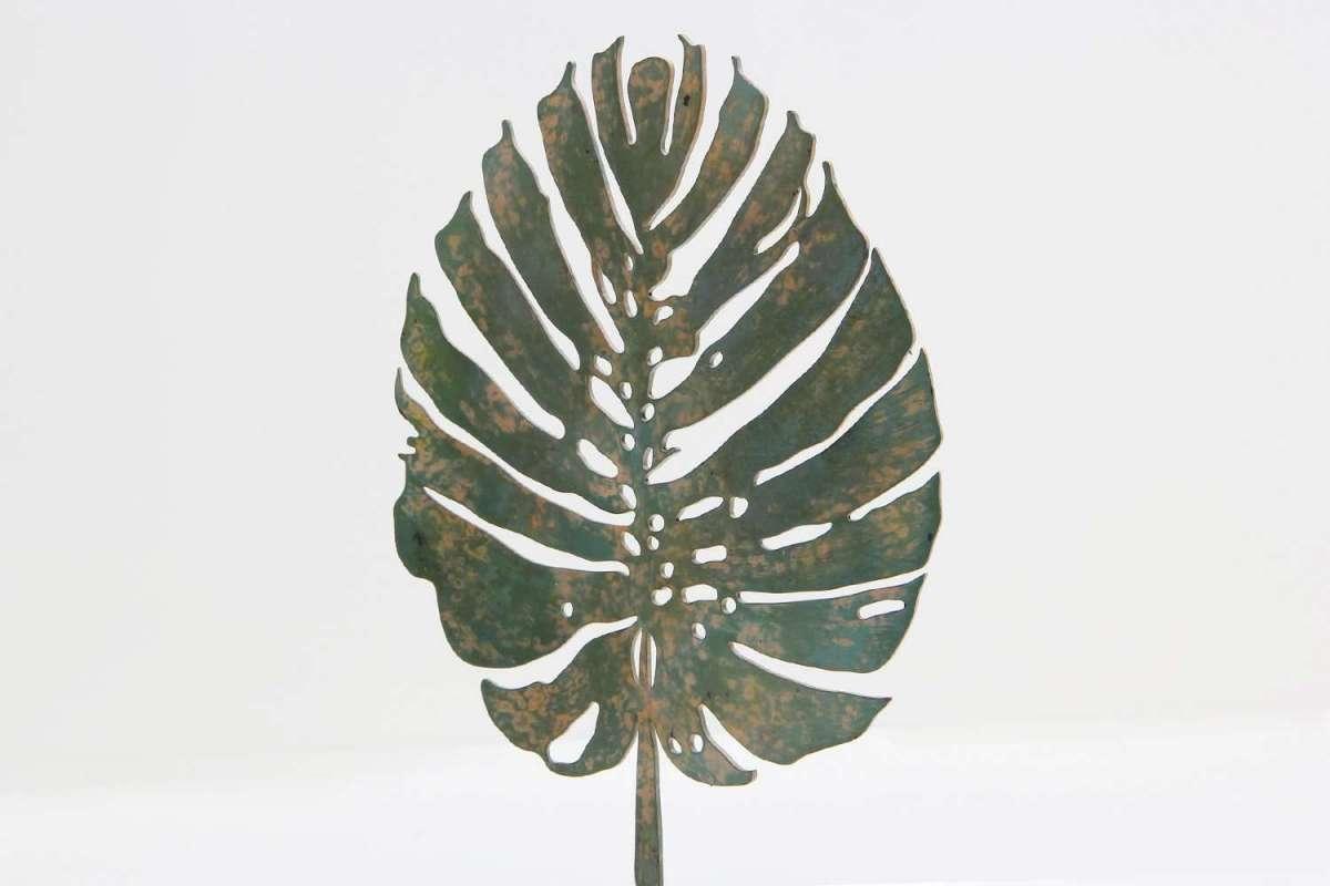 Verdigris Tropicana Leaf Sculpture by Forwood Design 3