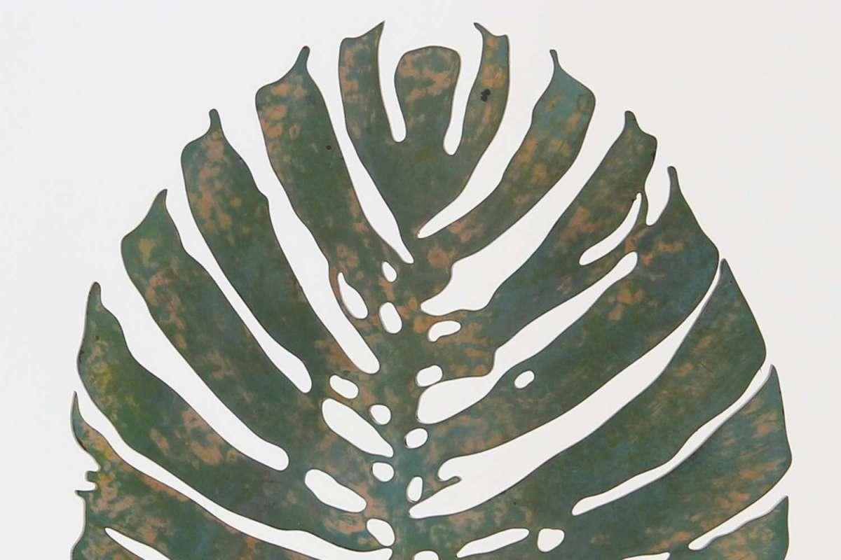 Verdigris Tropicana Leaf Sculpture by Forwood Design 1