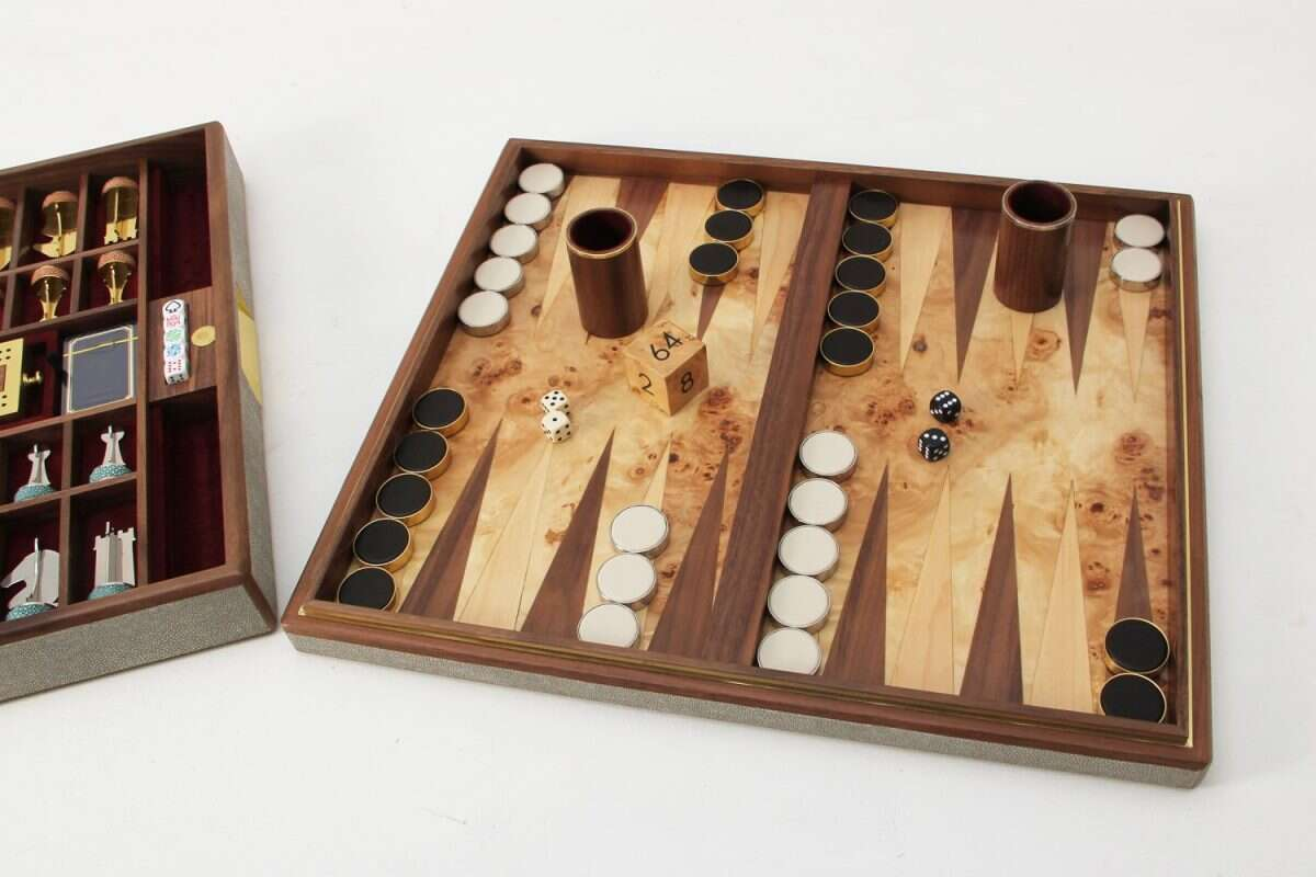 Games Compendium in Barley Shagreen by Forwood Design 4