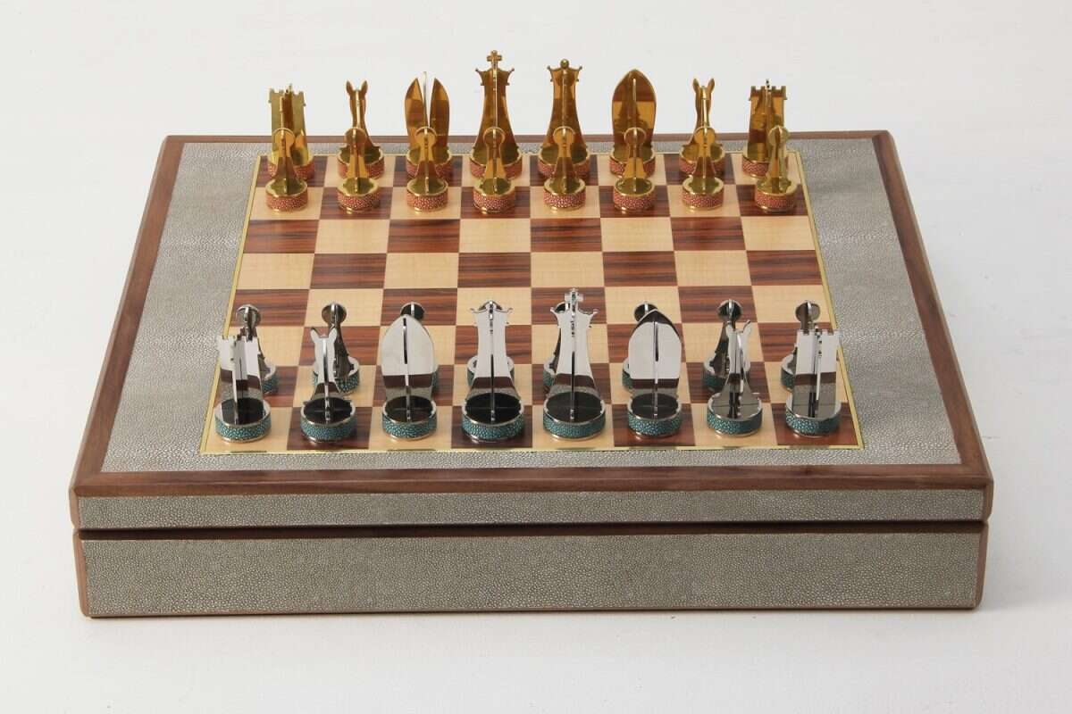 Games Compendium in Barley Shagreen by Forwood Design 3